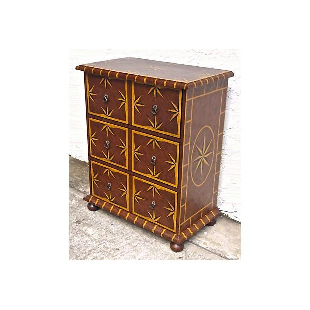 Vintage Starburst Painted Chest of Drawers - Image 3 of 6