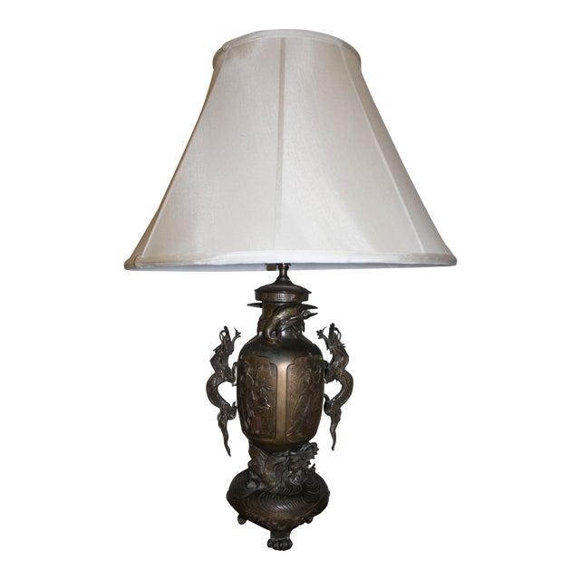 Bronze dragon table lamp chairish bronze dragon table lamp aloadofball Choice Image