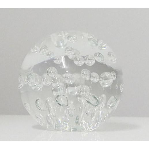 Decorative glass sphere in the style of Midcentury Murano glass. The bottom is flat making it ideal for displaying in many...