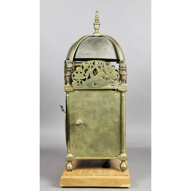 William and Mary Brass Lantern Clock by John Drew, London For Sale In Boston - Image 6 of 10