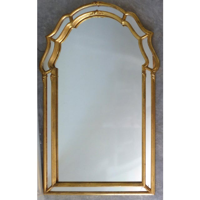 Italian Scrolled Panel Gilt-Wood Mirror - Image 2 of 7
