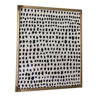 Polka Dot Gold Framed AcrylicPainting