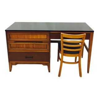 Vintage Danish Modern Style Desk & Chair For Sale