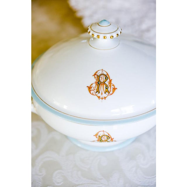 Antique French Porcelain Monogrammed Tureen For Sale - Image 4 of 5