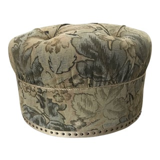 Vintage Fabric Upholstered Foot Stool/Ottoman For Sale