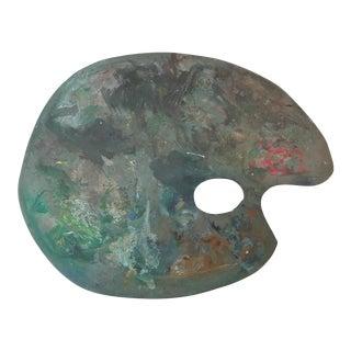 Vintage Artist Palette - Green Tones For Sale