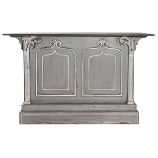 19th Century French Carved Dry Bar For Sale