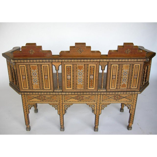 Levantine Syrian Inlay/Parquetry Bench For Sale - Image 4 of 11