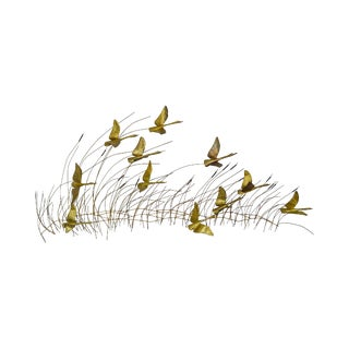 Mid Century Modern Jere Style Brass Wall Sculpture of Flying Geese