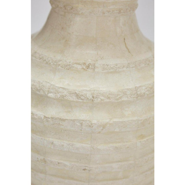 """1990s Postmodern Tessellated Stone Inlaid """"Terraced"""" Vase For Sale - Image 10 of 13"""