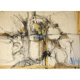 Image of Mixed Media Neutrals Abstract Painting For Sale