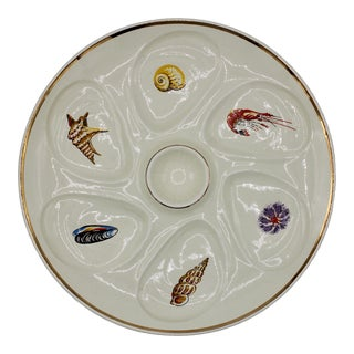 """French """"Crustaces"""" Crustaceans Oyster Plate For Sale"""