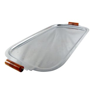 Art Deco Chrome General Electric Butterscotch Bakelite Hotpoint Tray For Sale