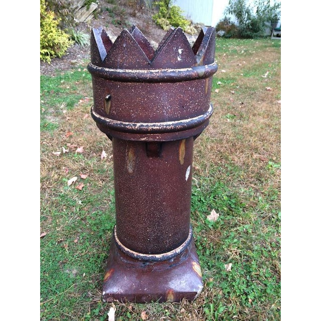 Clay SOLD-English Salt Glaze Chimney Pot For Sale - Image 7 of 8