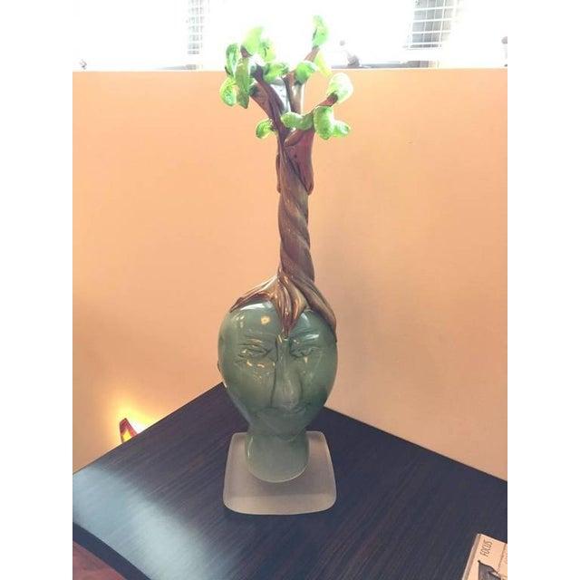 "Handblown Glass Tree Head ""Summer"" Sculpture - Image 2 of 10"