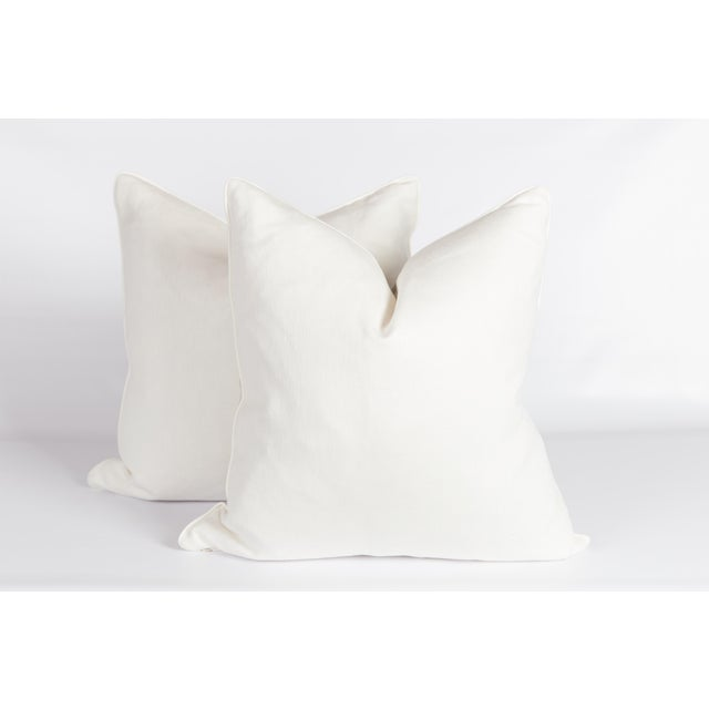 Gray & Ivory Chinoiserie Bird Pillows, a Pair For Sale - Image 4 of 6