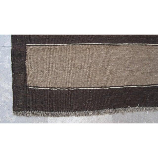 """Vintage Afghan Gebbeh Style Kilim Rug - 5' x 6'9"""" - Image 3 of 9"""