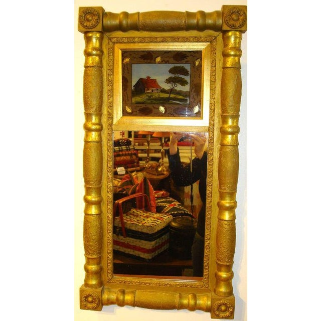 19th Century Gilded Mirror with Reverse Painted Glass - Image 2 of 7