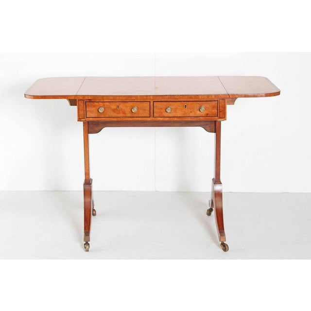 English Regency Satinwood Sofa Table For Sale In Dallas - Image 6 of 13