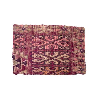 Colorful Moroccan Berber Pillow Sham in Fuchsia and Pink For Sale