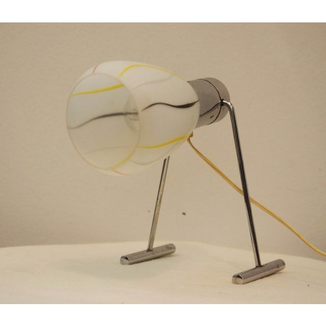 1950s Mid-Century Opaline Glass Table Lamp, 1950s For Sale - Image 5 of 9