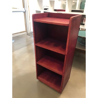 Leather Bookcase - Purple/Red Tones Preview