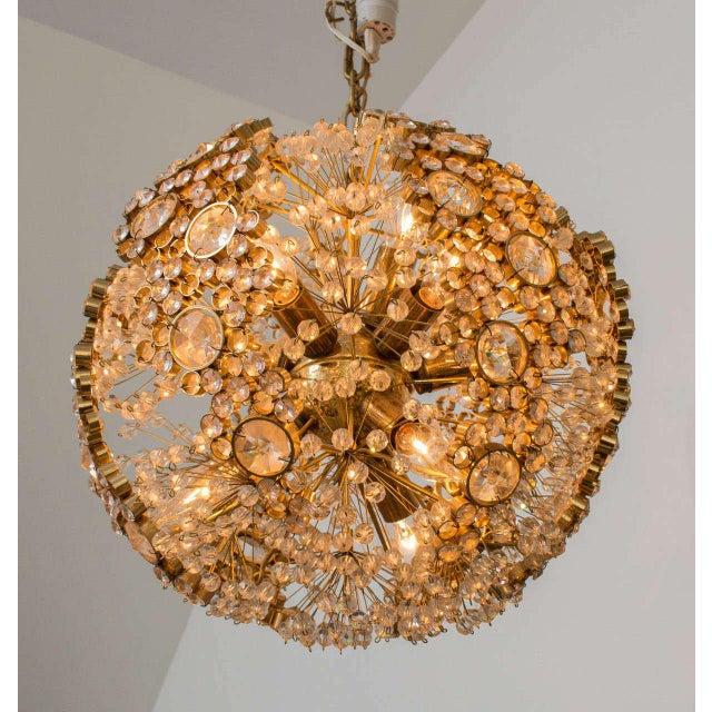 Gilt Brass J.L. Lobmeyr Chandelier For Sale In San Francisco - Image 6 of 9