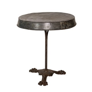 French Zinc-Topped Table For Sale