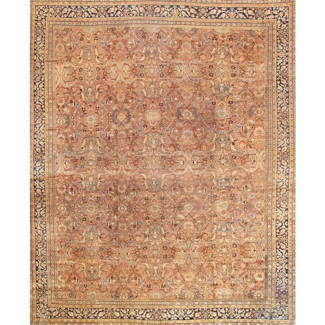 "Antique Persian Mahal Rug- 12'10"" X 17' 0"" - Image 1 of 5"