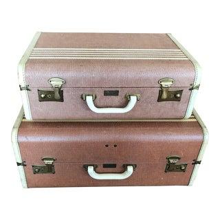 Vintage Koch Aviation Suitcases - Set of 2 For Sale