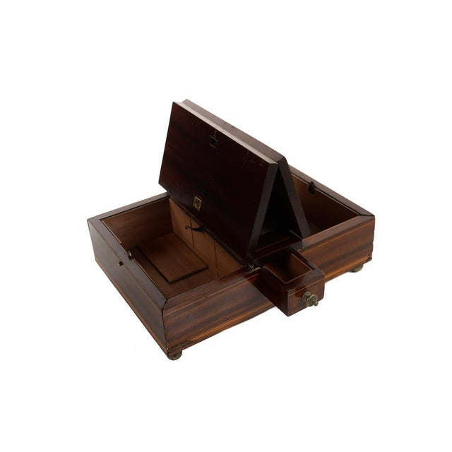Brown 19th Century Unusual English Gentleman Box For Sale - Image 8 of 9