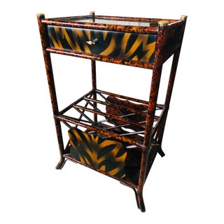 Maitland-Smith Newpaper / Magazine Rack End Table For Sale