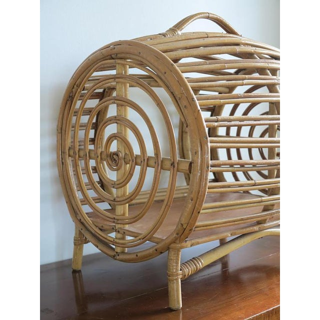 C.1930 Art Deco Abercrombie & Fitch Rattan Bamboo Pet Bed - Image 5 of 8