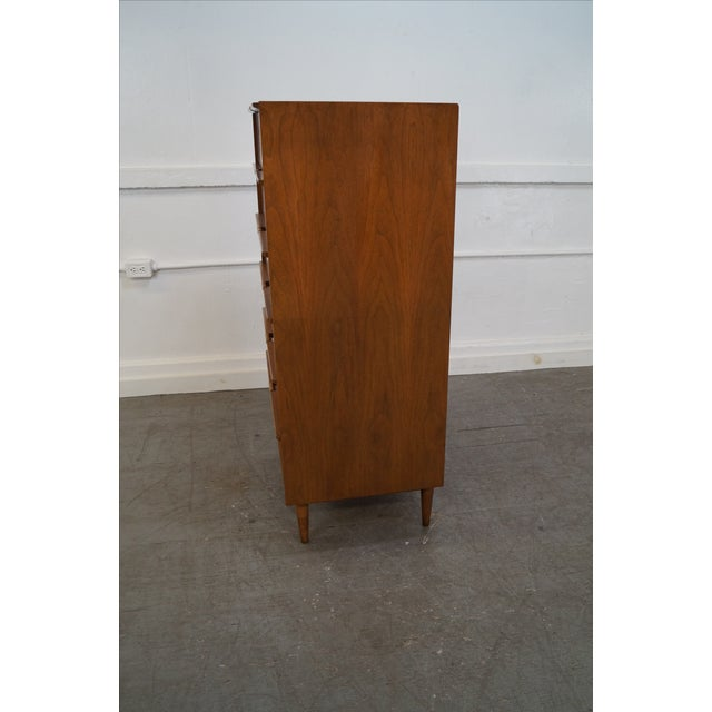 Mid-Century Danish Influenced Walnut Tall Chest - Image 10 of 10