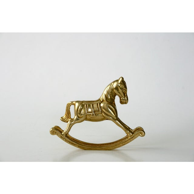 20th Century Childrens Brass Rocking Horse Figurine For Sale - Image 10 of 10