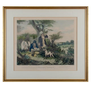 Gamekeepers Refreshing, Engraving by H. Pyall, After s.j.e. Jones, C.1829 For Sale