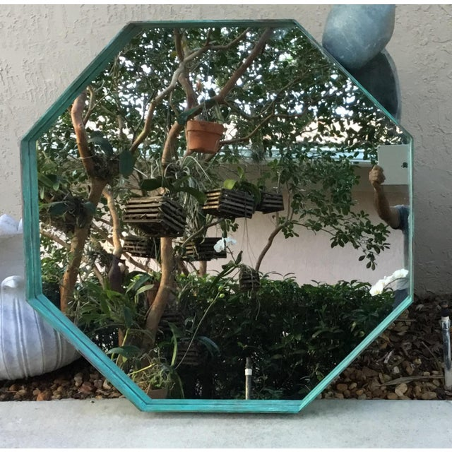 Architectural Bronze Hexagon Mirror For Sale - Image 4 of 10