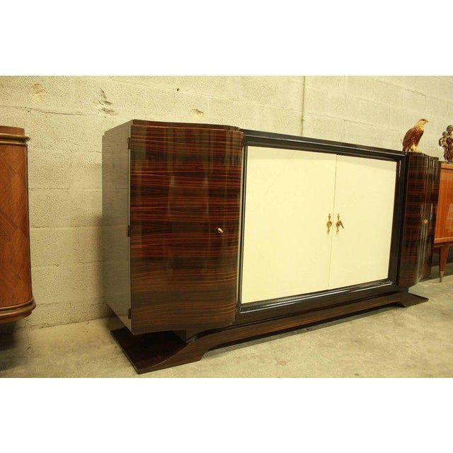 1940s Art Deco Maurice Rinck Macassar Sideboard For Sale - Image 12 of 12