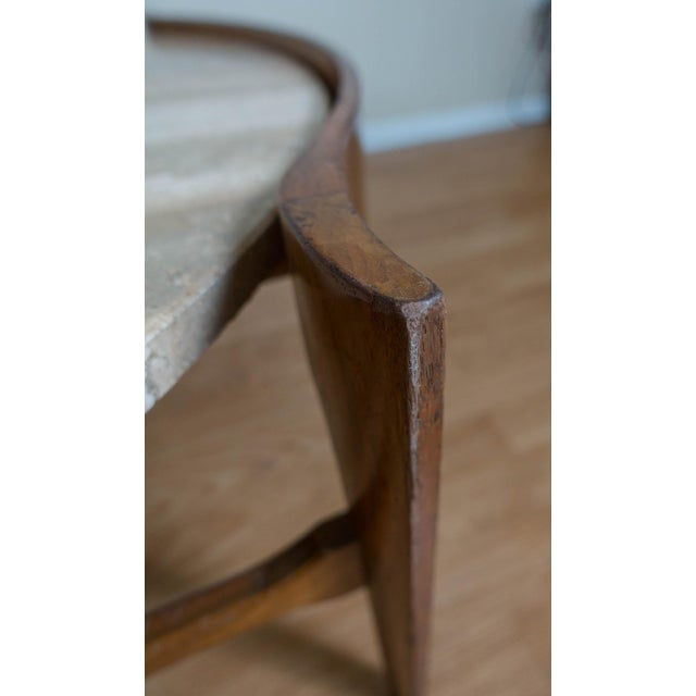 Bertha Schaefer Travertine & Walnut Coffee Table For Sale - Image 11 of 12