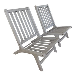 Pair of Safavieh Outdoor Lounge Chairs For Sale