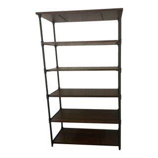 Mid Century Industrial Bookcase For Sale