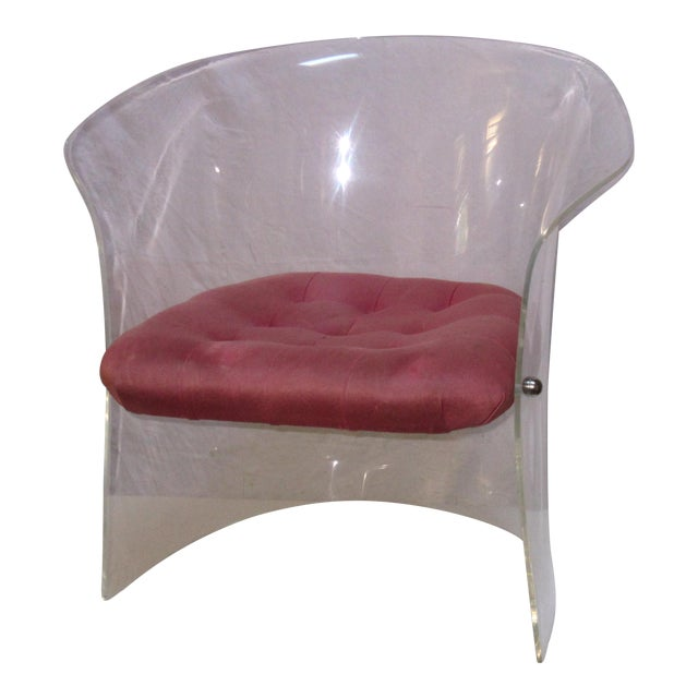 1970's Sculptural Lucite Armchair - Image 1 of 4