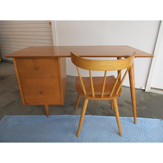 Mid-Century Modern Paul McCobb Planner Desk & Chair For Sale - Image 3 of 11