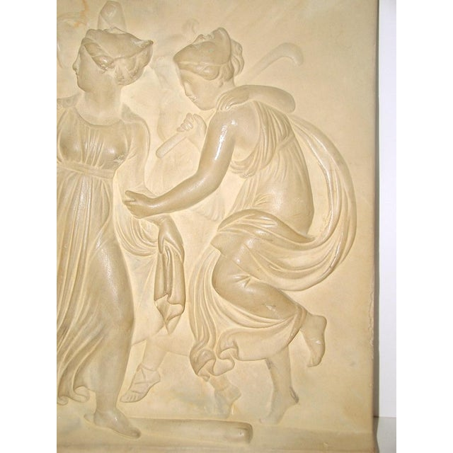 Neoclassical Roman Plaque Plaster Wall Hanging | Chairish