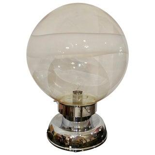 Carlo Nason Handblown Murano Glass Sphere Table Lamp for Mazzega, Italy 1960s For Sale
