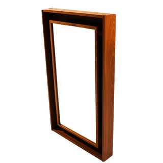 Pedersen & Hansen Danish Modern Teak Lighted Mirror For Sale