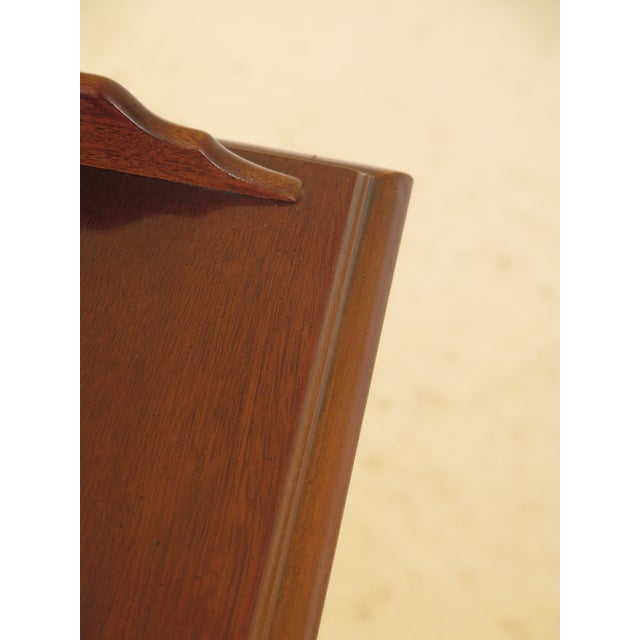 Mahogany 1990s Vintage Drexel Chippendale Style Mahogany Nightstands - A Pair For Sale - Image 7 of 12