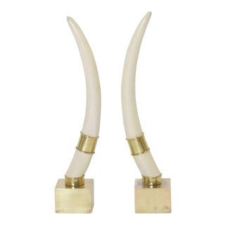 Mid Century Chapman Faux Tusks - A Pair For Sale