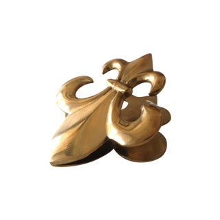 Brass Fluer De Lys Letter Clip For Sale