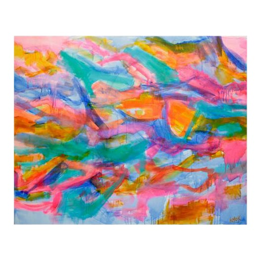 'Sheer Joy' Abstract Painting For Sale